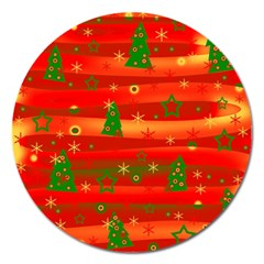 Christmas Magic Magnet 5  (round) by Valentinaart