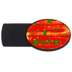 Christmas Magic Usb Flash Drive Oval (2 Gb)  by Valentinaart