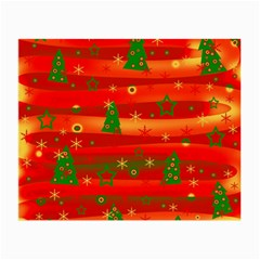Christmas Magic Small Glasses Cloth by Valentinaart