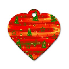 Christmas Magic Dog Tag Heart (one Side) by Valentinaart
