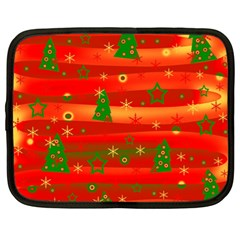 Christmas Magic Netbook Case (large) by Valentinaart