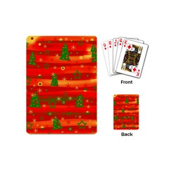 Christmas Magic Playing Cards (mini)  by Valentinaart