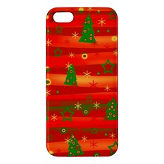 Christmas Magic Apple Iphone 5 Premium Hardshell Case by Valentinaart