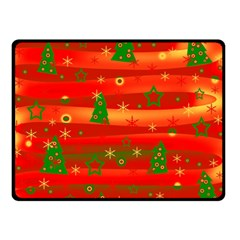 Christmas Magic Double Sided Fleece Blanket (small)  by Valentinaart