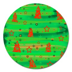 Xmas Magical Design Magnet 5  (round) by Valentinaart