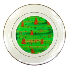 Xmas Magical Design Porcelain Plates by Valentinaart