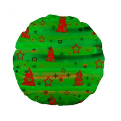 Xmas Magical Design Standard 15  Premium Round Cushions by Valentinaart
