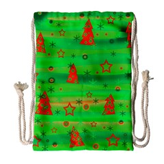 Xmas Magical Design Drawstring Bag (large) by Valentinaart