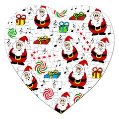 Xmas Song Jigsaw Puzzle (heart) by Valentinaart