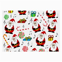 Xmas Song Large Glasses Cloth (2 Side) by Valentinaart