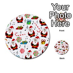 Xmas Song Multi Purpose Cards (round)  by Valentinaart