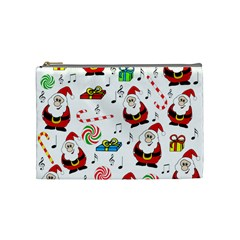 Xmas Song Cosmetic Bag (medium)  by Valentinaart