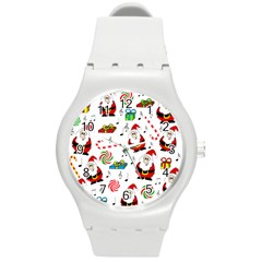 Xmas Song Round Plastic Sport Watch (m) by Valentinaart