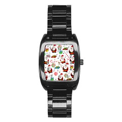 Xmas Song Stainless Steel Barrel Watch by Valentinaart