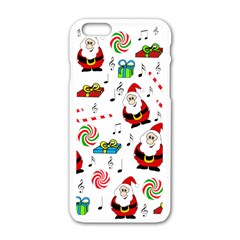 Xmas Song Apple Iphone 6/6s White Enamel Case by Valentinaart
