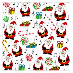 Xmas Song Large Satin Scarf (square) by Valentinaart