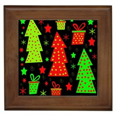 Merry Xmas Framed Tiles by Valentinaart
