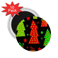 Merry Xmas 2 25  Magnets (10 Pack)  by Valentinaart
