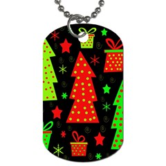 Merry Xmas Dog Tag (two Sides) by Valentinaart