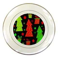 Merry Xmas Porcelain Plates by Valentinaart