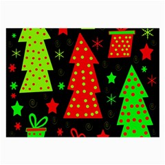 Merry Xmas Large Glasses Cloth (2 Side) by Valentinaart