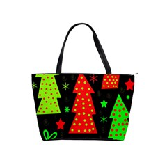 Merry Xmas Shoulder Handbags by Valentinaart