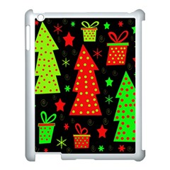 Merry Xmas Apple Ipad 3/4 Case (white) by Valentinaart