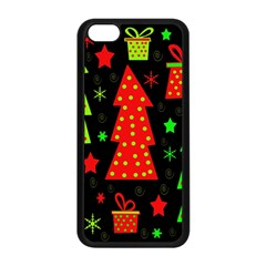 Merry Xmas Apple Iphone 5c Seamless Case (black) by Valentinaart