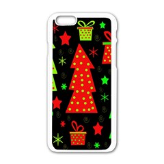 Merry Xmas Apple Iphone 6/6s White Enamel Case by Valentinaart