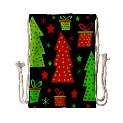 Merry Xmas Drawstring Bag (small) by Valentinaart