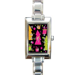 Colorful Xmas Rectangle Italian Charm Watch by Valentinaart