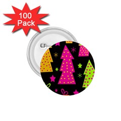 Colorful Xmas 1 75  Buttons (100 Pack)  by Valentinaart
