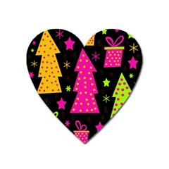 Colorful Xmas Heart Magnet by Valentinaart