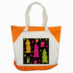 Colorful Xmas Accent Tote Bag by Valentinaart