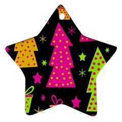 Colorful Xmas Star Ornament (two Sides)  by Valentinaart
