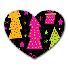 Colorful Xmas Heart Mousepads by Valentinaart