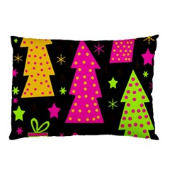 Colorful Xmas Pillow Case by Valentinaart
