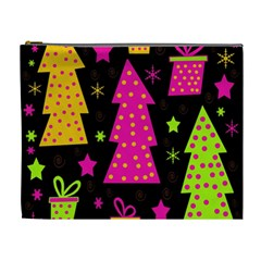 Colorful Xmas Cosmetic Bag (xl) by Valentinaart