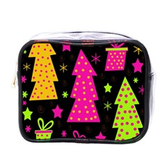 Colorful Xmas Mini Toiletries Bags by Valentinaart