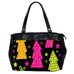 Colorful Xmas Office Handbags (2 Sides)  by Valentinaart