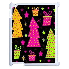 Colorful Xmas Apple Ipad 2 Case (white) by Valentinaart