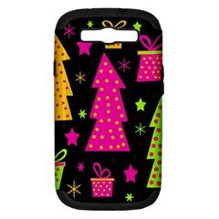 Colorful Xmas Samsung Galaxy S Iii Hardshell Case (pc+silicone) by Valentinaart