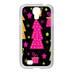 Colorful Xmas Samsung Galaxy S4 I9500/ I9505 Case (white) by Valentinaart