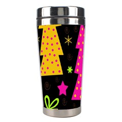 Colorful Xmas Stainless Steel Travel Tumblers by Valentinaart