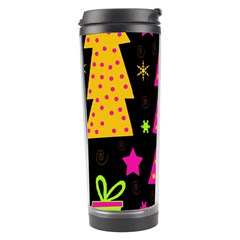 Colorful Xmas Travel Tumbler by Valentinaart