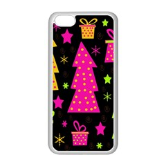 Colorful Xmas Apple Iphone 5c Seamless Case (white) by Valentinaart