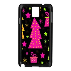 Colorful Xmas Samsung Galaxy Note 3 N9005 Case (black) by Valentinaart