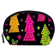 Colorful Xmas Accessory Pouches (large)  by Valentinaart