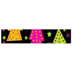 Colorful Xmas Flano Scarf (small) by Valentinaart