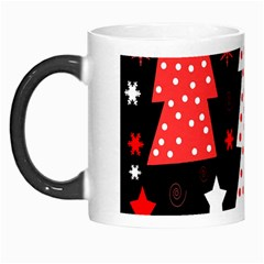 Red Playful Xmas Morph Mugs by Valentinaart